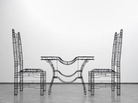 サムネイル:ノイズアーキテクツによる家具「ワイヤフレーム・ファニチャー」