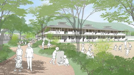 サムネイル:佐藤総合計画+SUEP.のチームによる宮城の山元町立山下第二小学校新築復旧設計プロポーザルの最優秀賞案