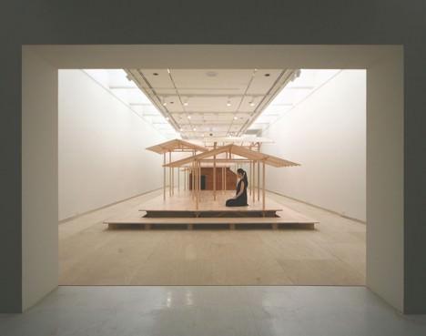 サムネイル:五十嵐淳による台湾の建築展での仮設建築「scale forest」