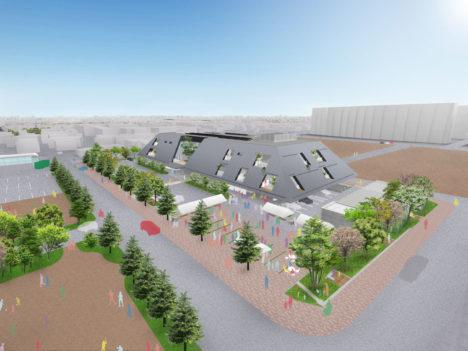 サムネイル:C+A・武藤圭太郎建築設計共同体が設計を進めている岐阜の「北方町新庁舎」の基本計画