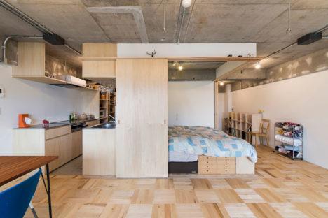 サムネイル:吉田裕一建築設計事務所がリノベーションした住居「築地・ROOM・H」