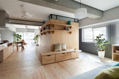 サムネイル:大野力 / sinatoによる、集合住宅の1室をリノベーションした住宅「Fujigaoka M」