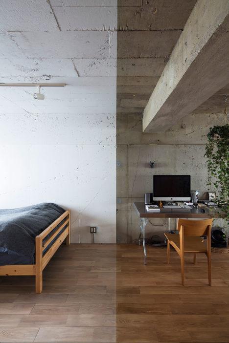 サムネイル:松島潤平建築設計事務所+青山文吾による、東京の築40年経つヴィンテージ・マンションの改修デザイン「Text」