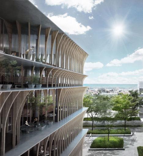 サムネイル:スペイシャルプラクティスによる、ブルガリアのヴァルナ公立図書館国際設計競技の3等案