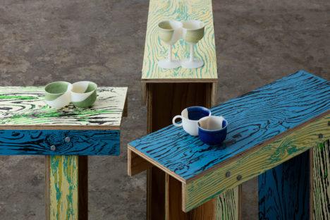 サムネイル:長坂常による、ミラノトリエンナーレ公式展示「alamak! Design in Asia」に出展する作品「twintsugi」と「ColoRing_shrine table」