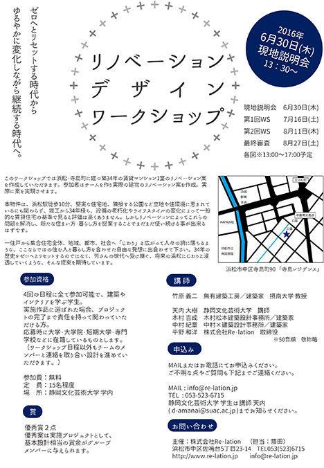サムネイル:竹原義二・天内大樹・木村吉成・中村紀章らが参加する、学生対象の実際に提案を実現させるワークショップが浜松で開催