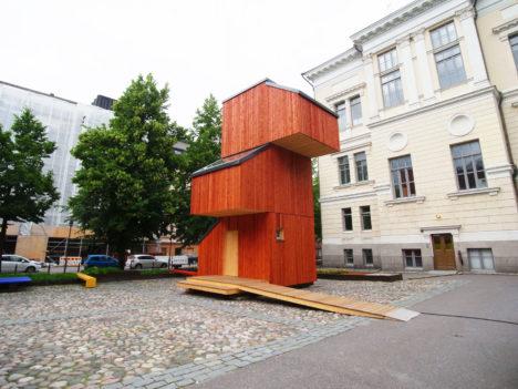 サムネイル:アアルト大学の2016年Wood Programプロジェクトで作られた「Kokoon」
