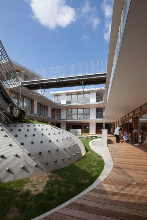 サムネイル:相坂研介設計アトリエによる、千葉県船橋市の「あまねの杜保育園」