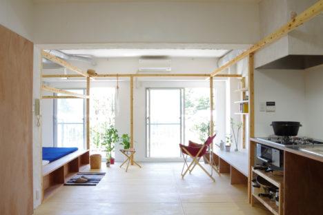 サムネイル:ピークスタジオ一級建築士事務所による、神奈川県川崎市の築34年のマンションのリノベーション「FRAME HOUSE」