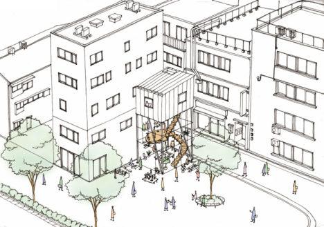 サムネイル:コンマによる、東京都港区新橋の、都市に開かれた店舗併用住宅「TENTOSHI」の内覧会が開催 [2016/10/15]