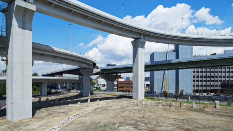 サムネイル:今津康夫 / ninkipen!による、大阪の、高速道路ジャンクションのランドスケープデザイン「三宝JCT」