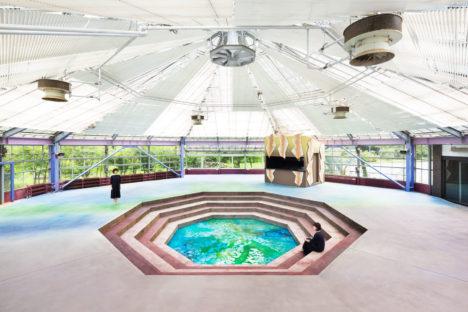 サムネイル:落合守征デザインプロジェクトによる、神奈川の美術館多目的スペース「Waterscape / Memory of Spring」