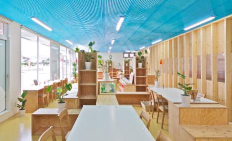 サムネイル:山本真也建築設計事務所による、山口県山口市のカフェ・ショップ「はあと農園カフェ」