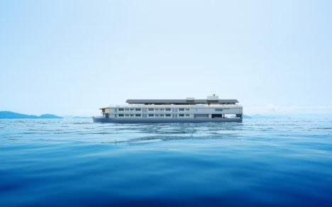 サムネイル:堀部安嗣が、瀬戸内で運用される宿泊型の小型客船「ガンツウ」をデザイン