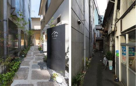 サムネイル:多田正治+遠藤正二郎による、京都市下京区の、築約50年の旅館と木造アパートを改修したゲストハウス「しづやKYOTO」