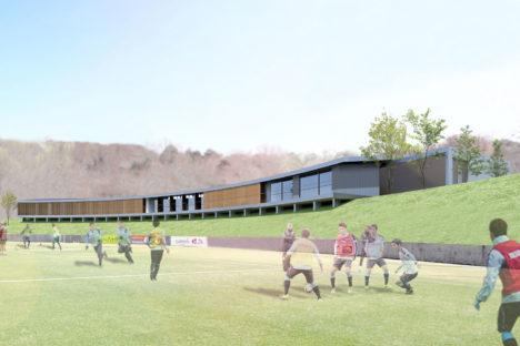 サムネイル:ジュビロ磐田の新施設「(仮称)Jubilo Clubhouse・Athlete Center」を渡辺隆建築設計事務所が設計