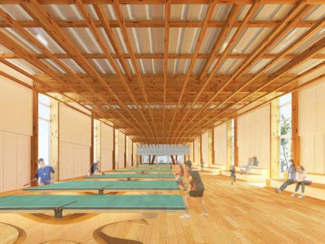 サムネイル:静岡県磐田市にて入札制度で公共建築を実現している渡辺隆建築設計事務所が設計している「(仮称)磐田市卓球場」の画像