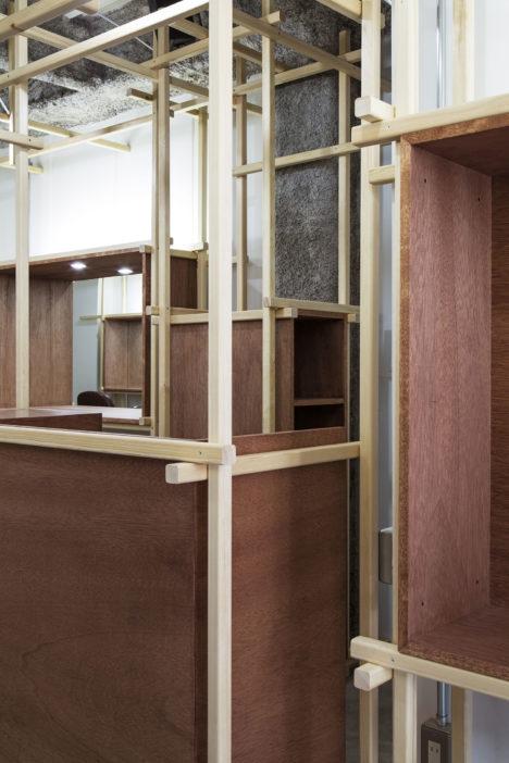 サムネイル:加藤隼輝+杉山聖昇 / Poten-Potenによる、長野市の美容室「木組みの森」