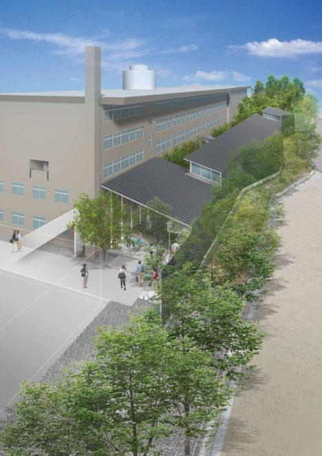 サムネイル:長坂大が建築設計に関わっている、京都工芸繊維大学 KYOTO Design Labの新施設「KYOTO Design Lab デザインファクトリー(仮称)」