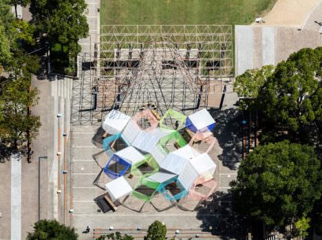 サムネイル:島田陽による、神戸・東遊園地の仮設建築「URBAN PICNIC PAVILION」(2017/11/5まで訪問可能)