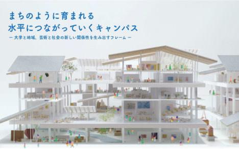 サムネイル:京都市立芸術大学移転設計プロポで受託候補者に選ばれた「乾・RING・フジワラボ・o+h・吉村設計共同体」の提案書が公開